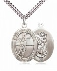 Girl's St. Christopher Volleyball Medal [EN6273]