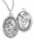 Girl's St. Sebastian Lacrosse Medal Sterling Silver