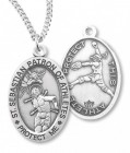 Girl's St. Sebastian Softball Medal Sterling Silver