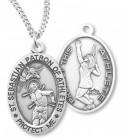 Women's St. Sebastian Tennis Medal Sterling Silver