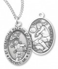 Girl's St. Sebastian Volleyball Medal Sterling Silver