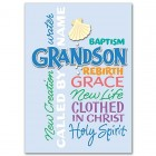 Grandson Baptismal Greeting Card