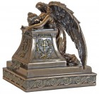 Grieving Angel Cremation Tower Urn Bronze-tone