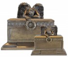 Grieving Angel Cremation Urn Set - Bronze-tone