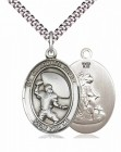 Guardian Angel Football Patron Saint Medal