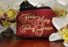 Hail Mary Full of Grace Cloth Rosary Case