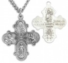 Heart Centered Four-Way Cross Pendant