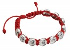 Holy Spirit Bracelet with Red Adjustable Cord
