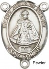 Infant of Prague Rosary Centerpiece Sterling Silver or Pewter