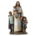 Jesus and the Children of Need 7 Inch High Statue