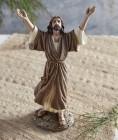Jesus Praise God 9 Inch High Statue