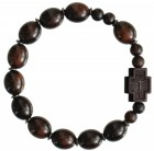 Jujube Dark Wood Rosary Bracelet - 12mm