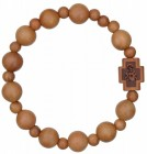 Jujube Wood Rosary Bracelet - 10mm