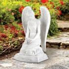 """Kneeling Memorial Angel with Flowers Garden Statue 20"""" High"""