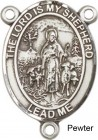 Lord is My Shepherd Rosary Centerpiece Sterling Silver or Pewter
