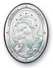 Madonna & Child Sterling Silver Plaque: 3 Sizes Available
