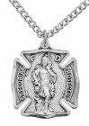 Men's Sized Sterling Silver Saint Florian Firefighter Medal