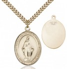 Oval Sterling Silver Miraculous Medal Necklace