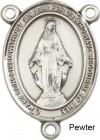Miraculous Rosary Centerpiece Sterling Silver or Pewter