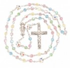 Multi Color Swarovski Crystal Rosary in Sterling Silver