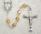 November Birthstone Rosary (Topaz) - Sterling Silver