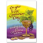 On your First Communion Day Chalice Greeting Card