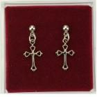 Open-Cut Cross Dangle Earrings