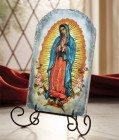 """Our Lady of Guadalupe Tile Plaque 8.5"""" High"""