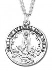 Our Lady of Fatima Medal Sterling Silver