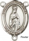 Our Lady of Fatima Rosary Centerpiece Sterling Silver or Pewter