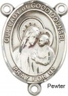 Our Lady of Good Counsel Rosary Centerpiece Sterling Silver or Pewter