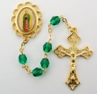 Our Lady of Guadalupe Green Bead Rosary