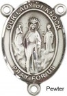 Our Lady of Knock Rosary Centerpiece Sterling Silver or Pewter