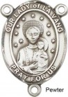 Our Lady of La Vang Rosary Centerpiece Sterling Silver or Pewter