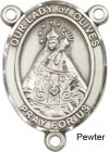 Our Lady of Olives Rosary Centerpiece Sterling Silver or Pewter