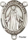 Our Lady of Peace Sterling Silver Rosary Centerpiece