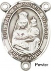 Our Lady of Prompt Succor Rosary Centerpiece Sterling Silver or Pewter