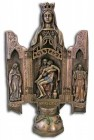 Our Lady of Sorrows Triptych, Bronzed Resin - 11 inch