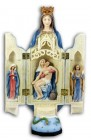 Our Lady of Sorrows Triptych, Hand Painted - 11 inch