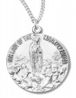 Our Lady of the Rosary of Fatima Medal Sterling Silver