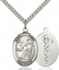 Oval Saint Luke Medal with Medicine Symbol