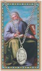 Oval St. Luke Medal with Prayer Card