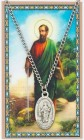 Oval St. Paul Medal with Prayer Card