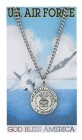 Round St. Michael Air Force Medal with Prayer Card