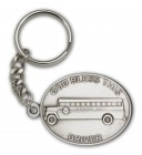 God Bless This Bus Driver Keychain