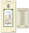 Confirmation Medal in Pewter with Prayer Card
