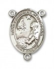 St. Catherine of Bologna Rosary Centerpiece Sterling Silver or Pewter