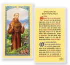 Orcaion A San Francisco Pajaro Laminated Spanish Prayer Cards 25 Pack