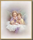 Guardian Angels Gold Framed Print