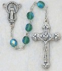 May Birthstone Rosary (Emerald) - Silver Oxidized